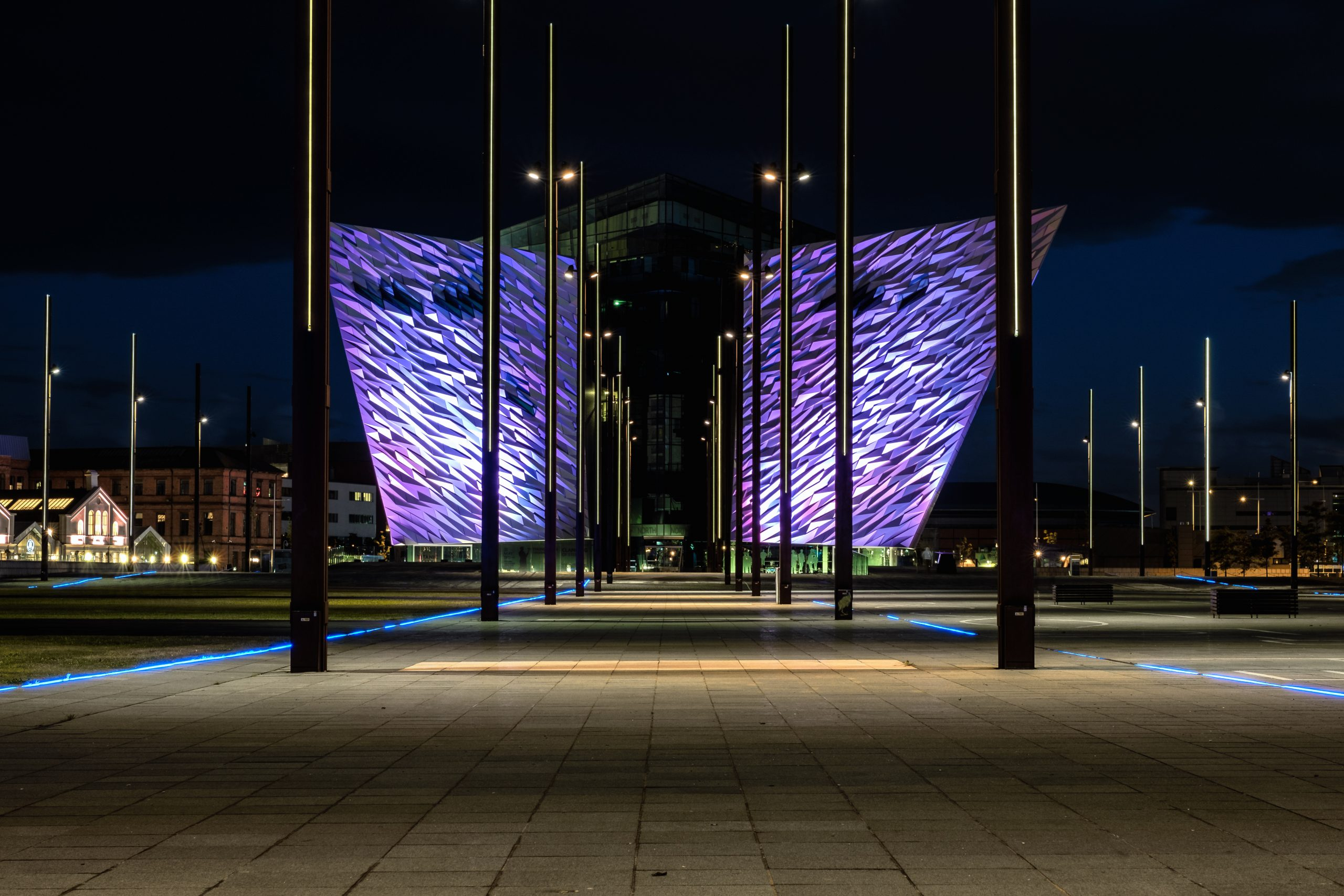 Titanic Belfast by night
