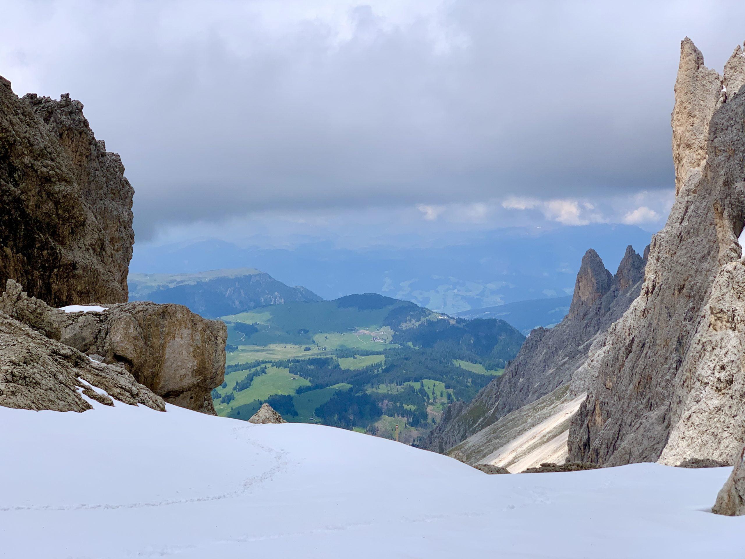 Alpe di Siusi visto dal Sassolungo