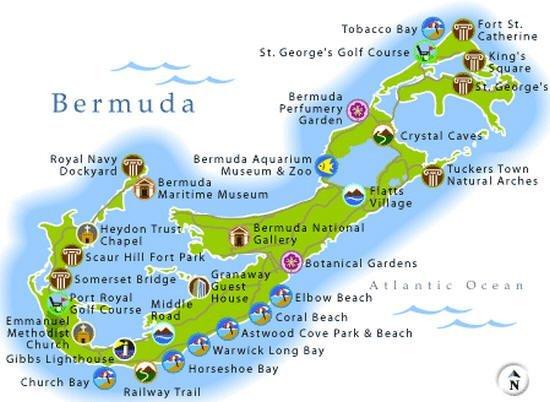 cartina Bermuda
