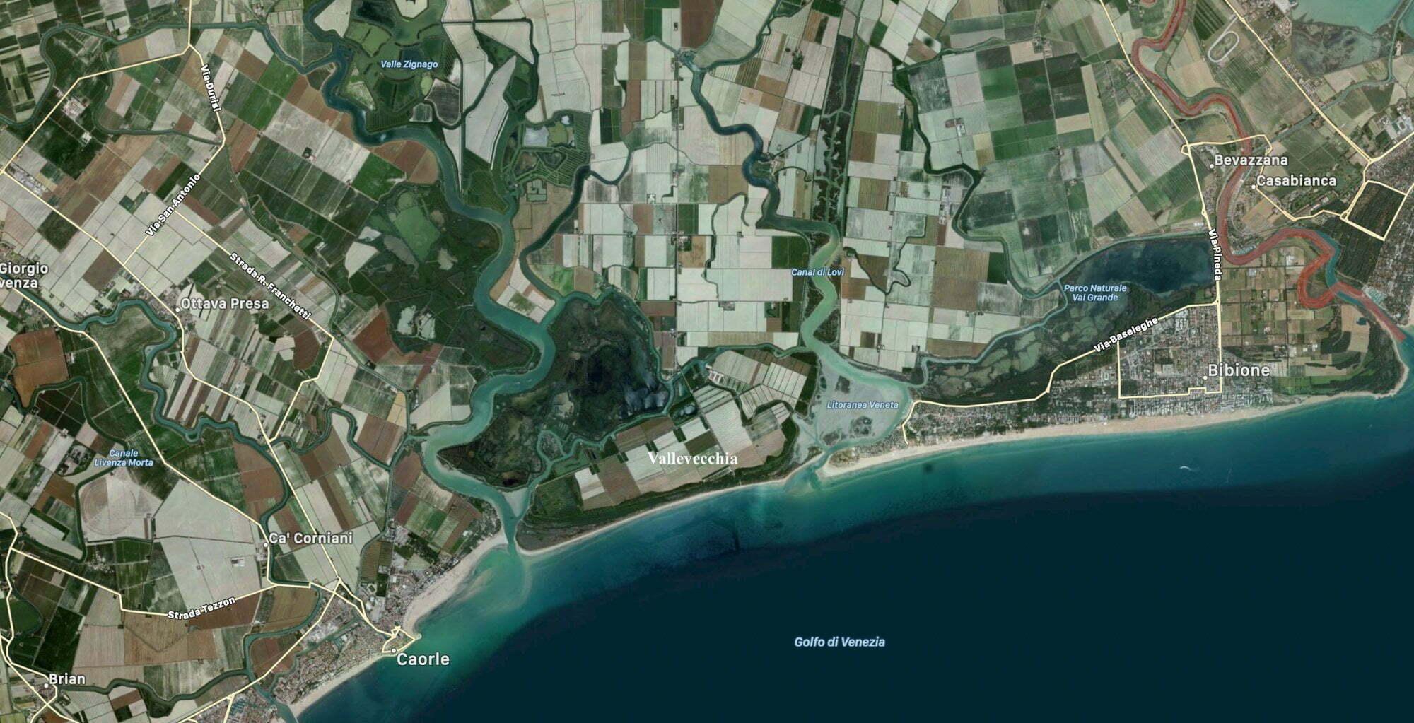 Vallevecchia foto dal satellite