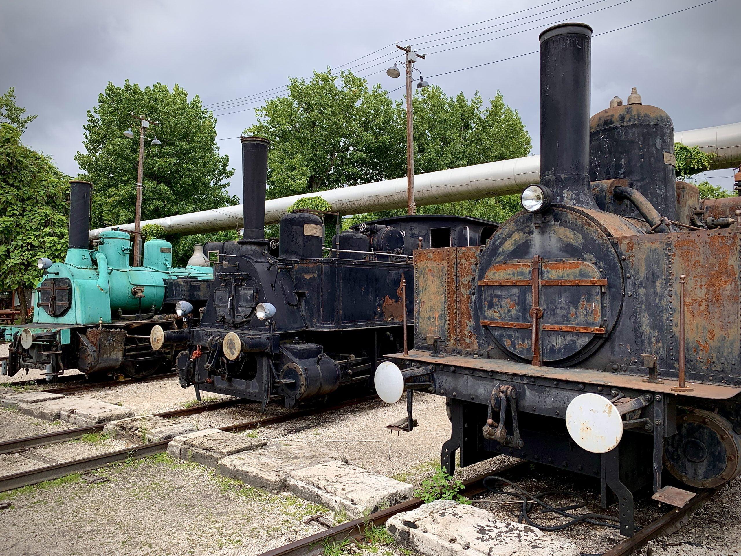 Locomotiva a vapore esposta nel museo