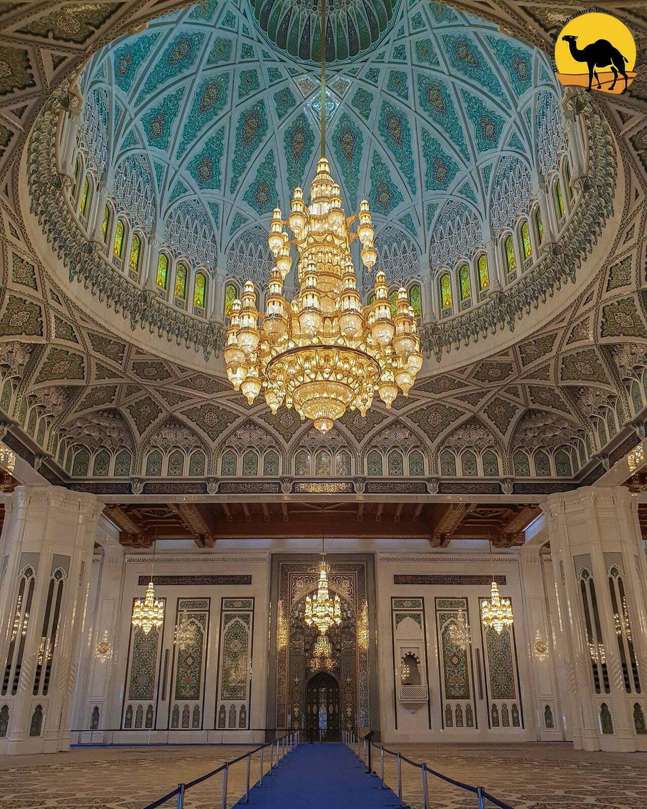 Grande Moschea del Sultano Qaboos a Muscat in Oman