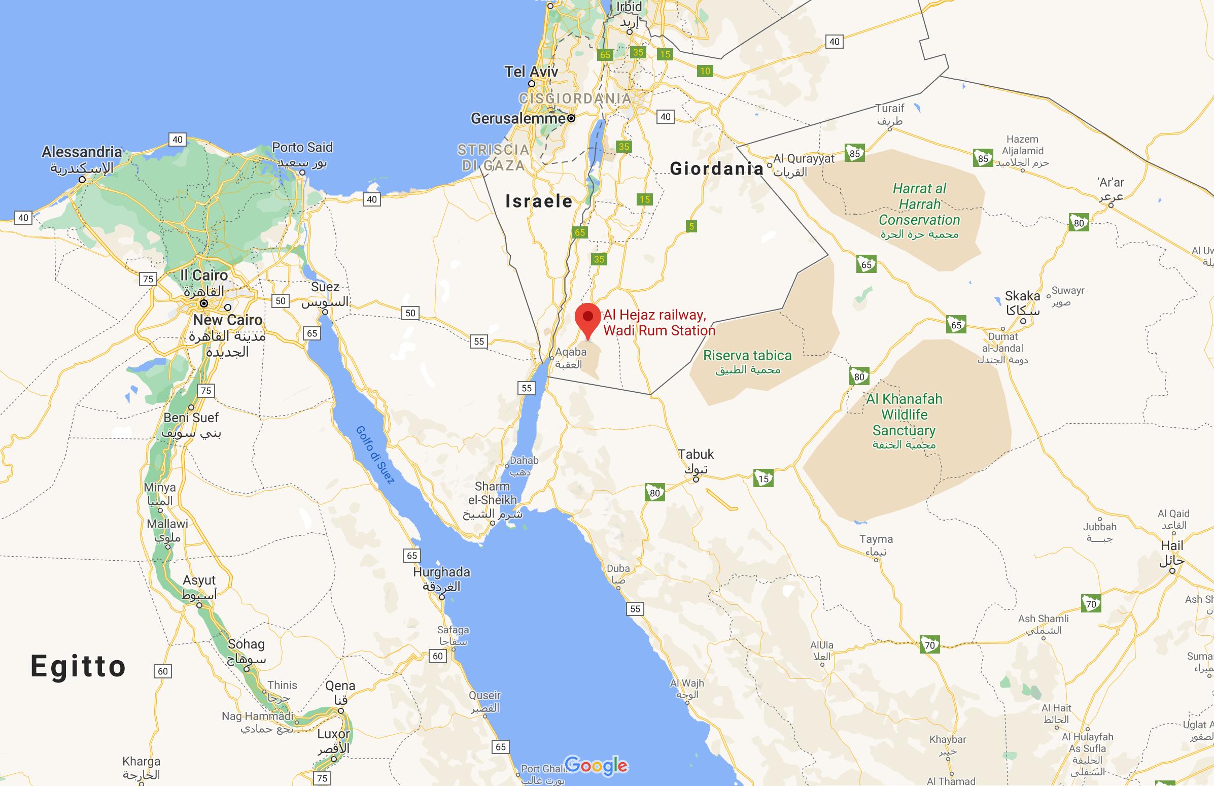 Al Hejaz railway Wadi Rum Station, Giordania