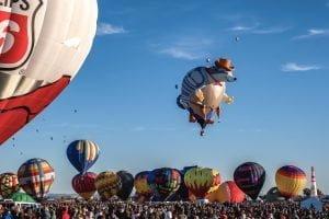 Il Festival delle mongolfiere di Albuquerque, New Mexico