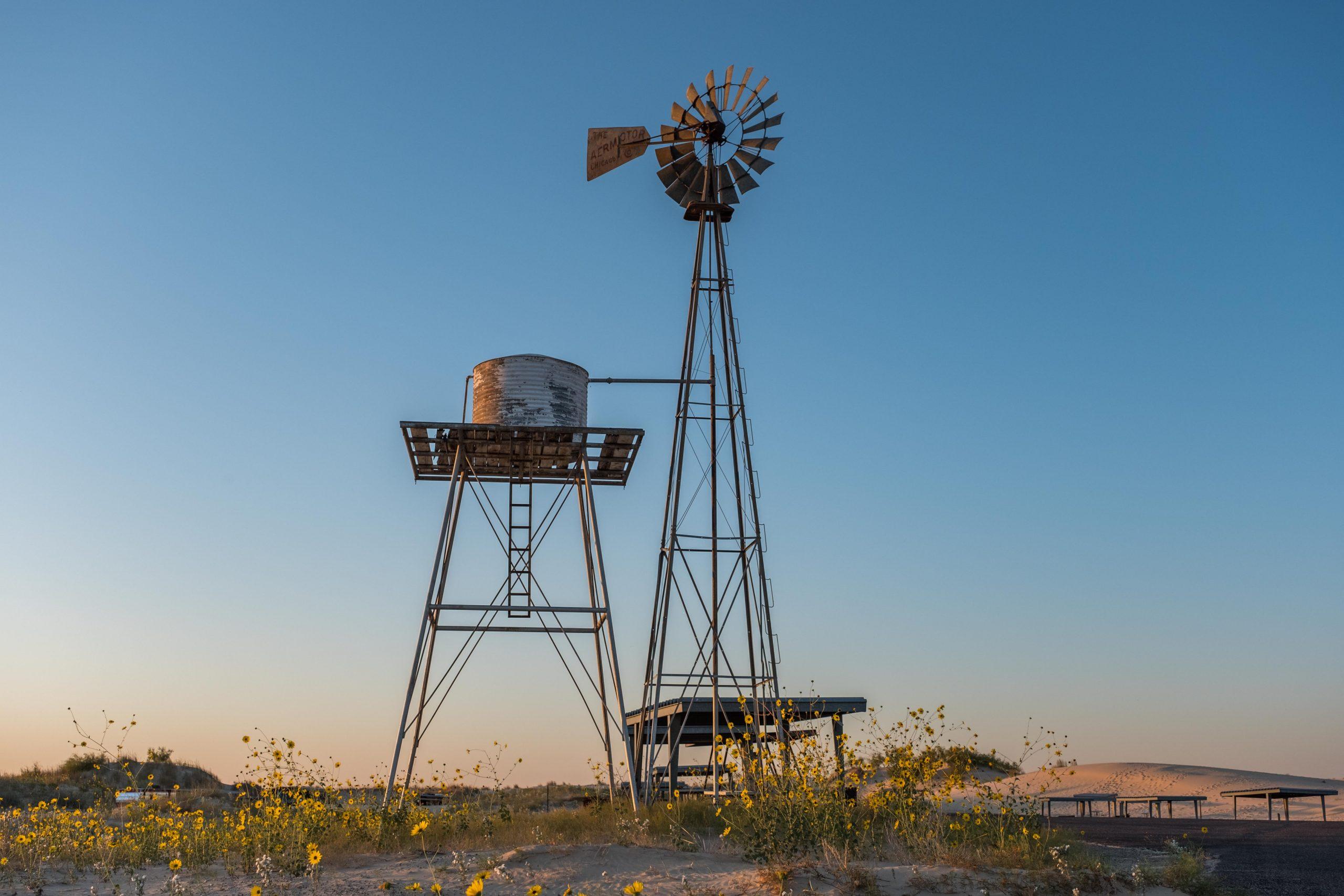 Mulini a vento nel Monahans Sandhills State Park