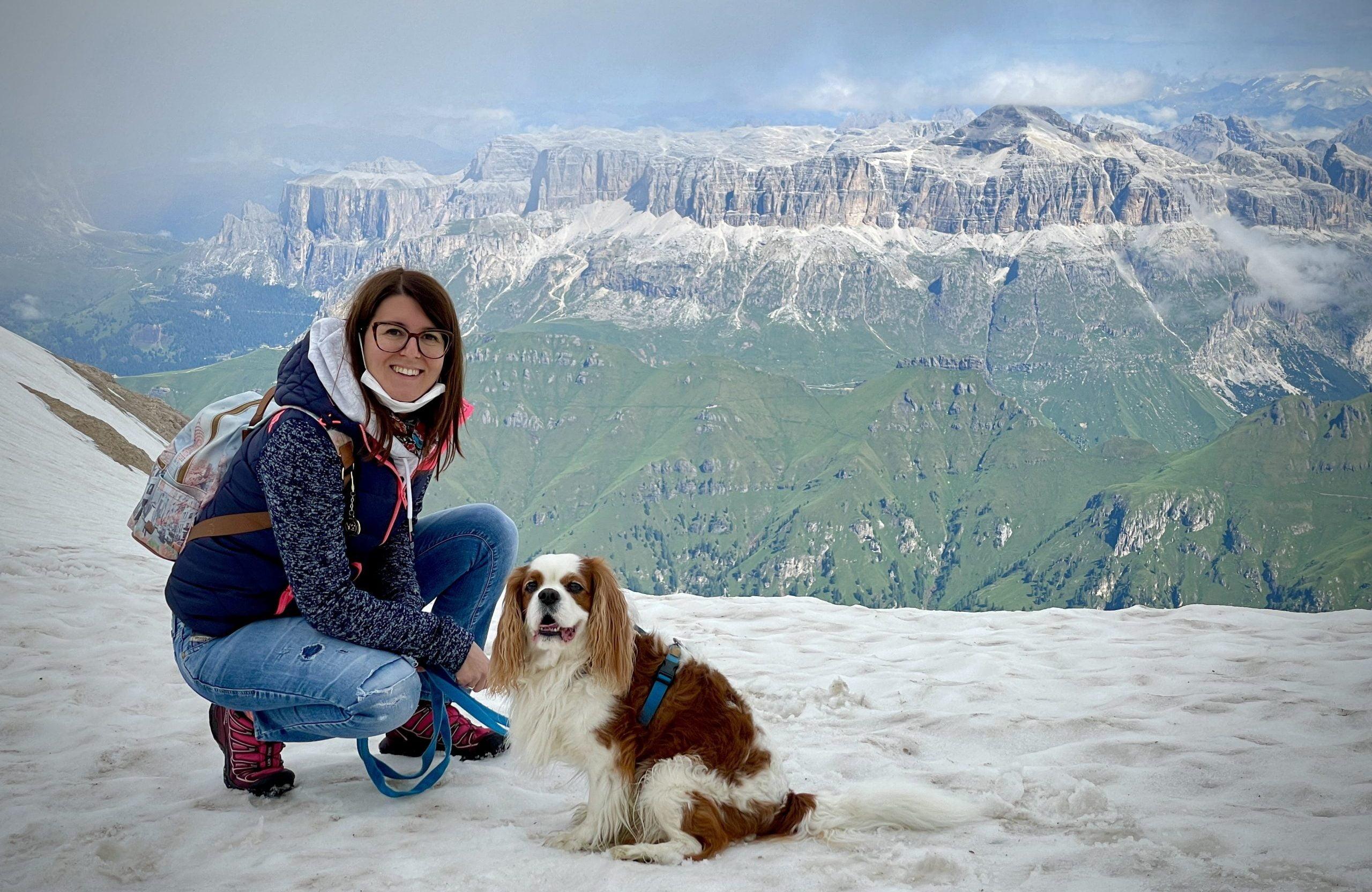 Read more about the article Sul ghiacciaio della Marmolada con il cane